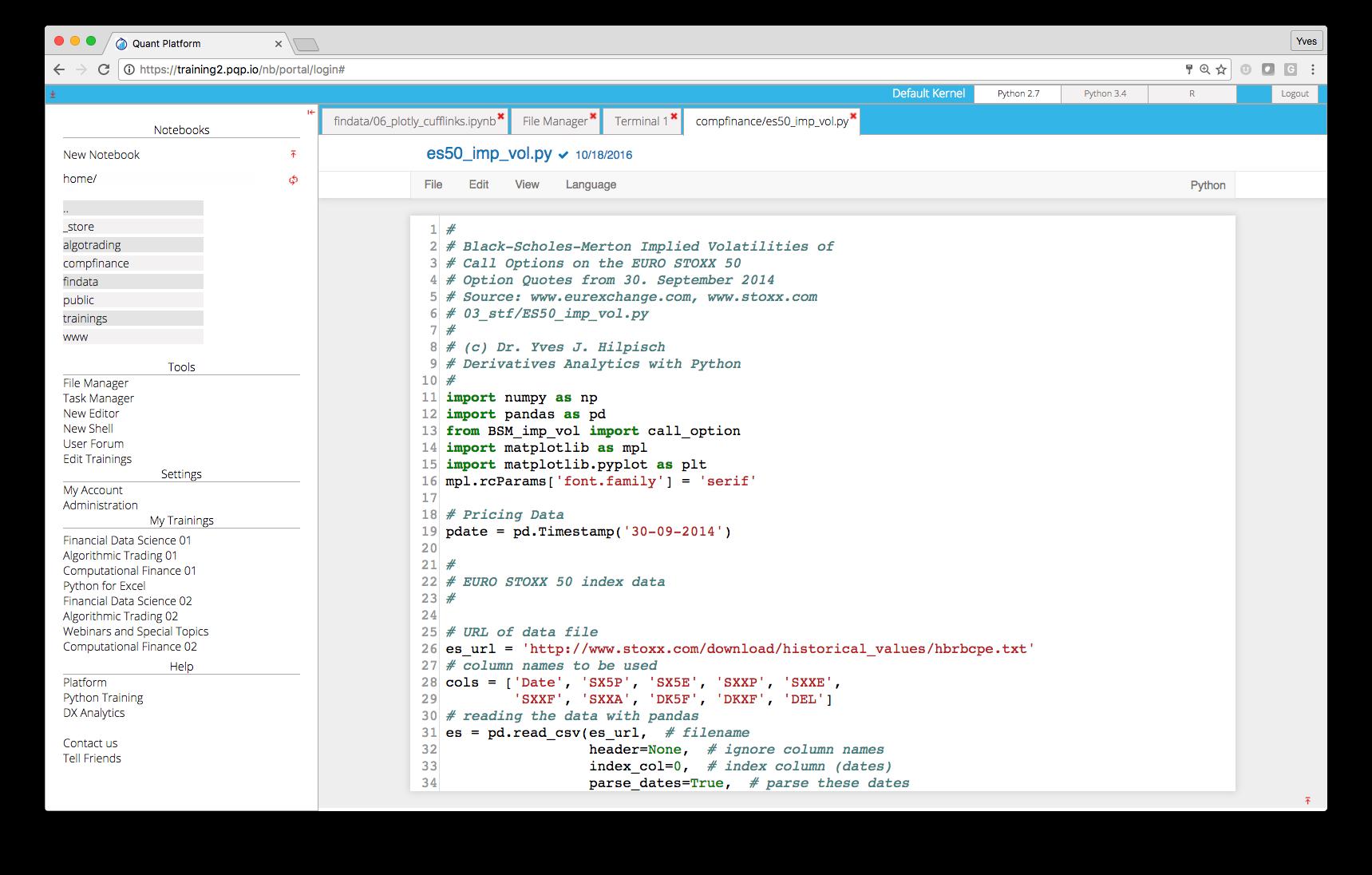 PQP Python Code Editing